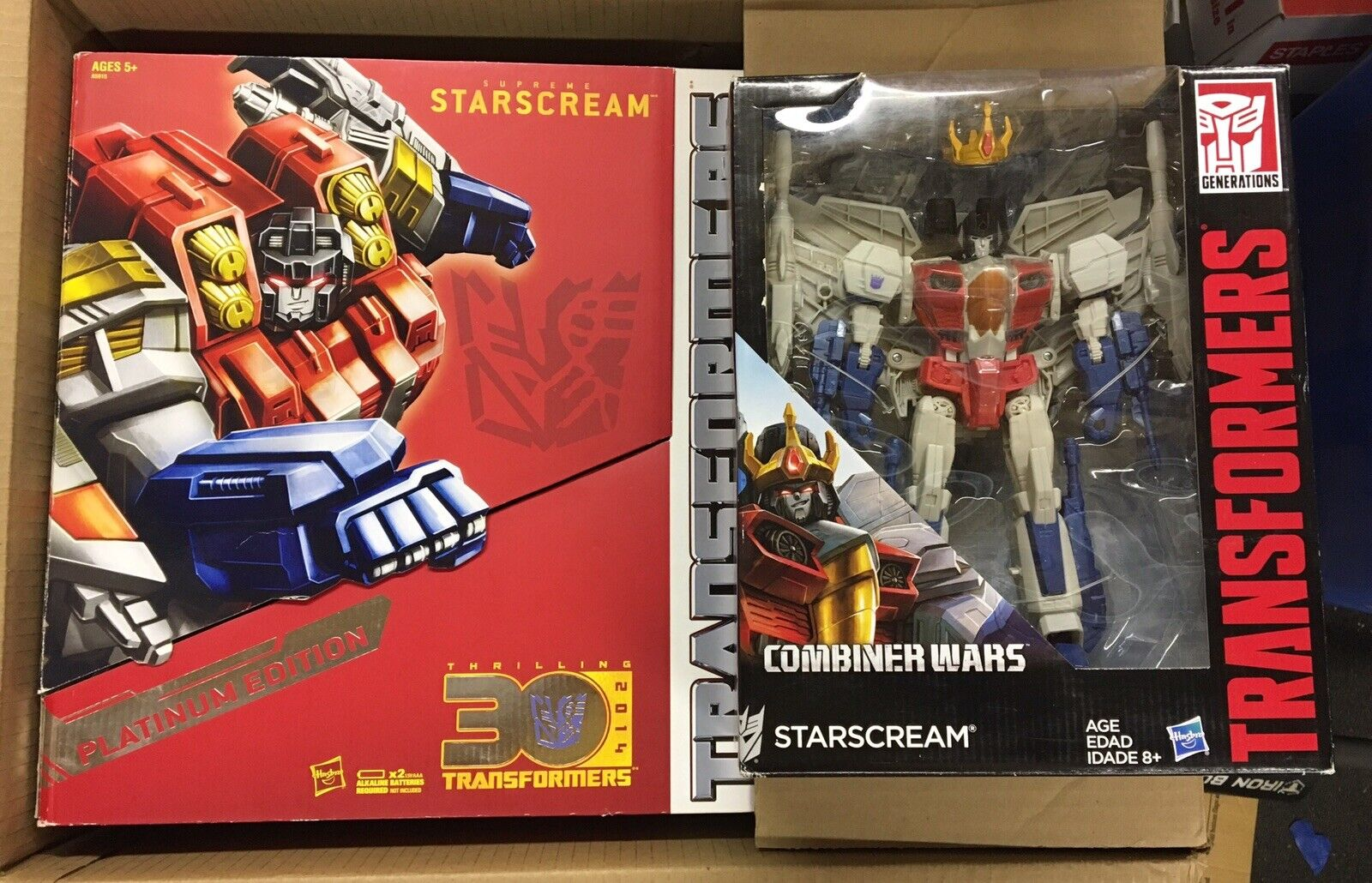 Starscream  Lot Transformers Combineur Wars Leader Class et 30th Platinum NEUF  Dans votre attente