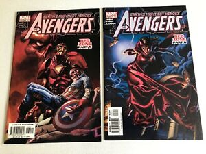 The-Avengers-Red-Zone-Part-5-amp-6-Comic-Books-Marvel-Direct-Editions-Stan-Lee