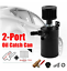 2-Port-Aluminum-Oil-Catch-Can-Tank-Reservoir-w-Drain-Valve-amp-Breather-Filter-Black miniature 8