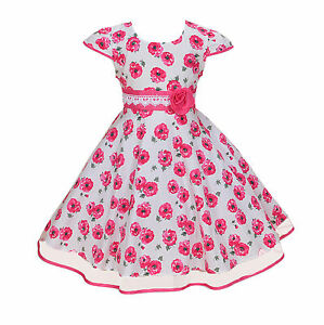 Cinda-Chicas-Rosa-Vestido-de-fiesta-en-azul-rosa-4-5-6-7-8-anos