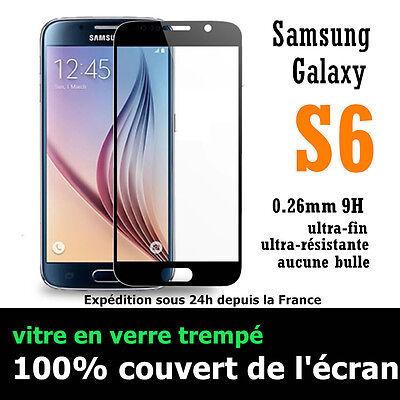 film de protection écran VITRE en VERRE TREMPE intégral total Samsung Galaxy S6