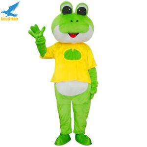 Image is loading New-Cartoon-Frog-Mascot-Costume-Fancy-Dress-Adult-  sc 1 st  eBay : frog costume for adults  - Germanpascual.Com