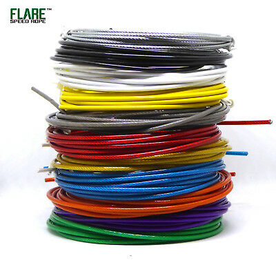 Reyllen Nylon Pro 9ft Coated Replacement Steel Wire Cable for Skipping Jump Rope