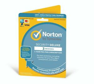 Norton Internet Security Deluxe 2021 3 Devices 1 Year UK/EU - Delivery by Email