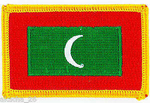 PATCH ECUSSON BRODE DRAPEAU MALDIVES INSIGNE THERMOCOLLANT NEUF FLAG PATCHE gmGGfdqG-09094029-301993415