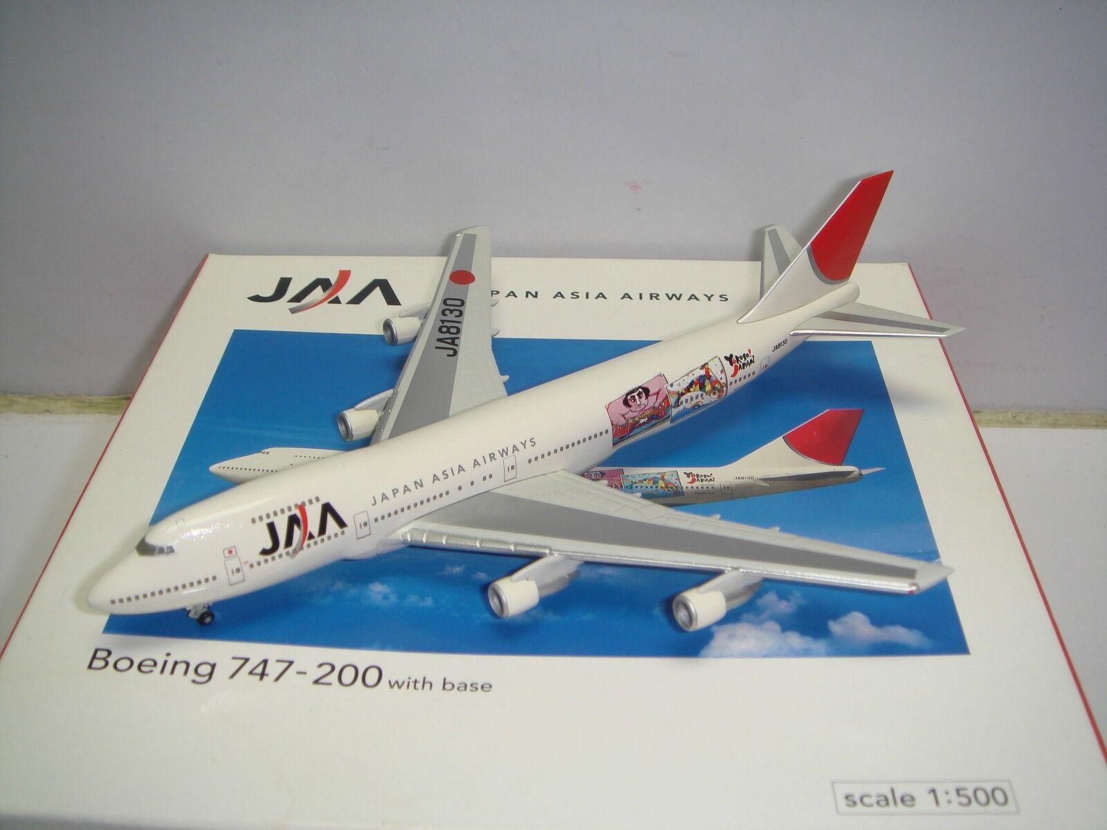 Herpa Wings 500 Japan Asia Airways JAA B747-200  Yokoso Japón  NG 1 500