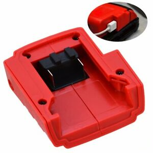 For-Milwaukee-49-24-2371-M18-Lithium-Ion-Power-Source-DC12V-USB-Port-Charger-US