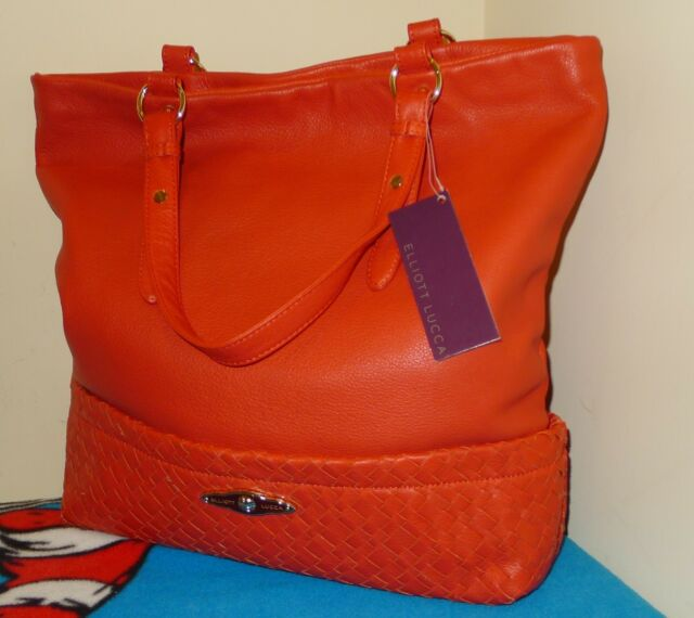 Elliott Lucca Cartagena Cayenne Leather Handbag Purse Tote 298 Nwt