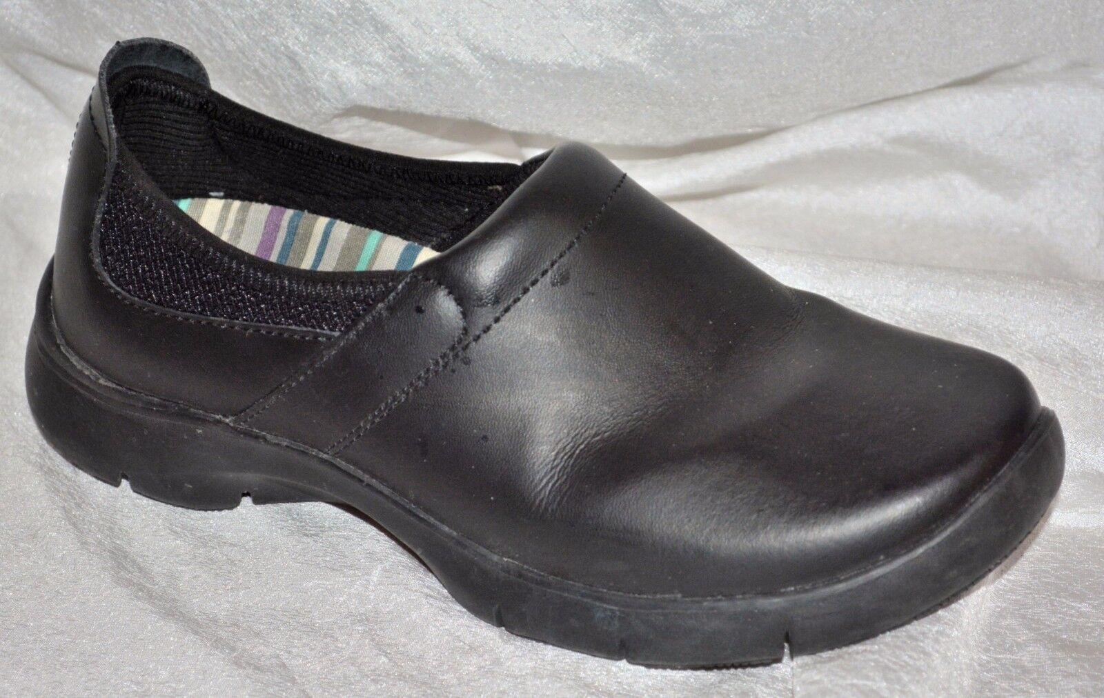 Dansko Enya Slip On Comfort Clog nero Leather Dimensione EU  38 US 7.5 -7 scarpe intasa  rivenditore di fitness