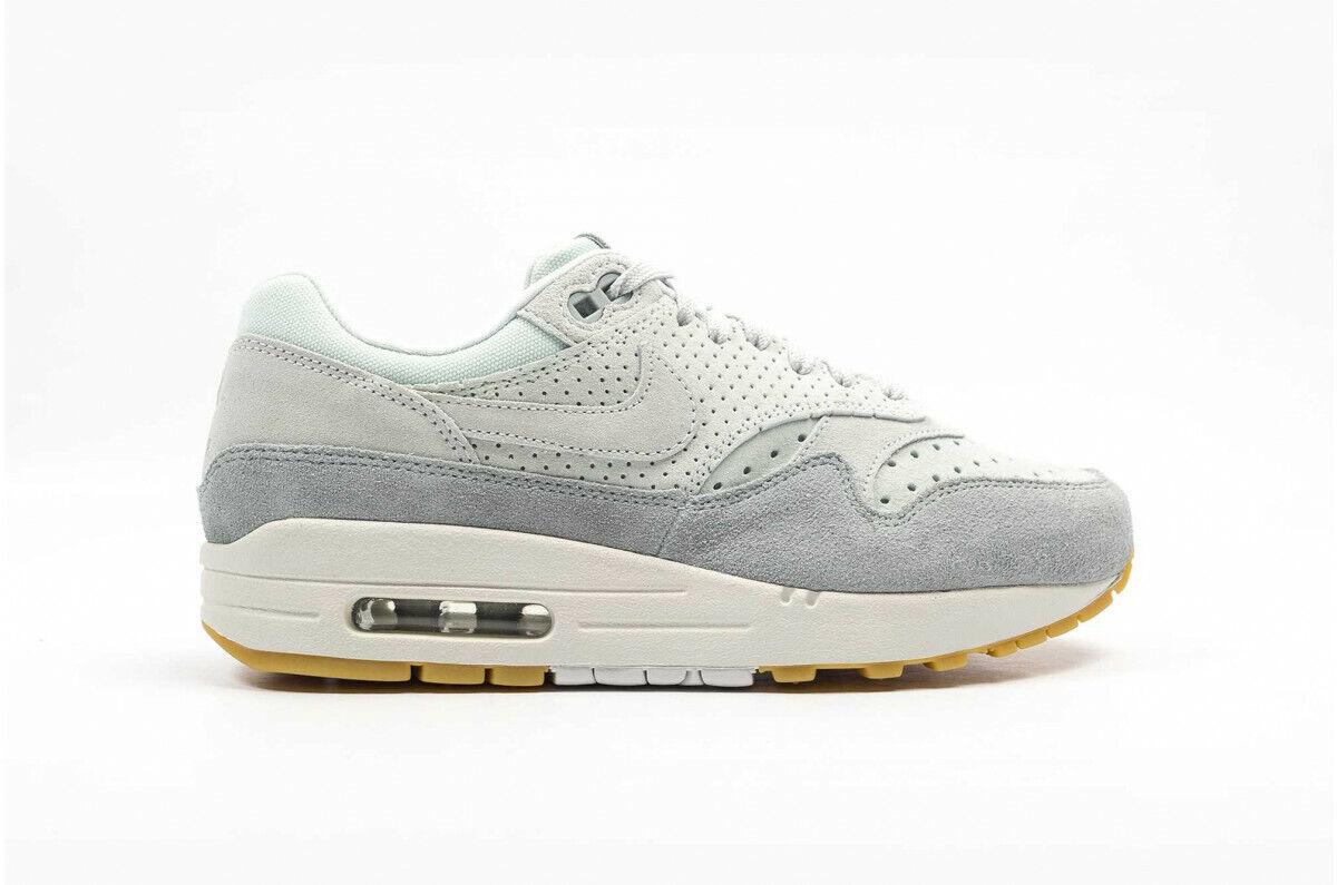 damen Nike air Max 1 premium Gr 40,5 barely grau Turnschuhe PRM 454746-019 Neu