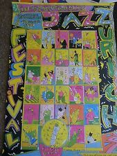 36X50 Huge Jazz Poster Zurich 1990 signed Colorful Fun Comical original