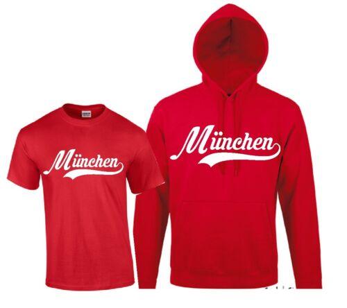 Hoodie T-Shirt // Kapuzensweat München Kapu Sweat Trikot für Ultras Shirt