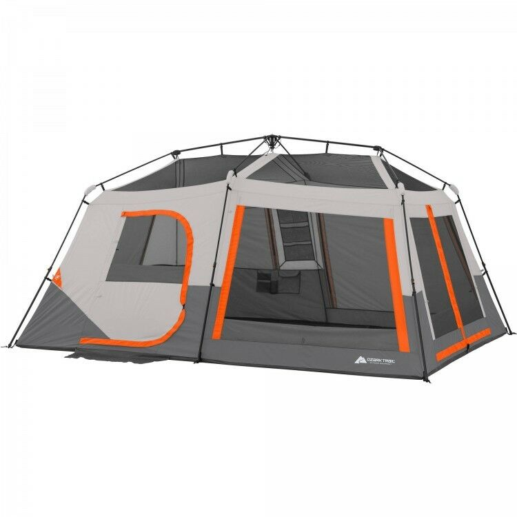 Large Family Camping Tent 2-Room Cabin 10-Person Travel Outdoor Shelter Hiking