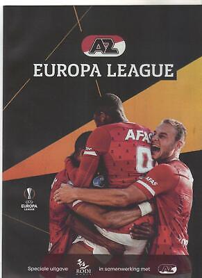 Programm UEL 2019//20 AZ Alkmaar off Manchester United FC Astana FK Partizan
