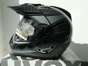 Uvex-Enduro-3-in-1-Enduro-Integralhelm-schwarz-grau-shiny-carbon-Neu