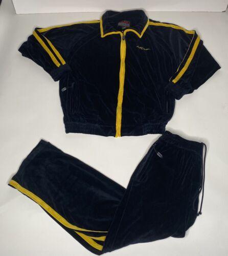 Vtg 1990s Fubu Velour Track Suit Mens L Zip Up Jac