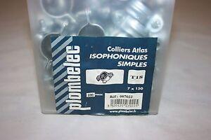 Intelligente 100 Collier Atlas Simple Isophonique Acier Zingué 7 X 150 Mm Ø 18 Mm Plombelec Haute SéCurité