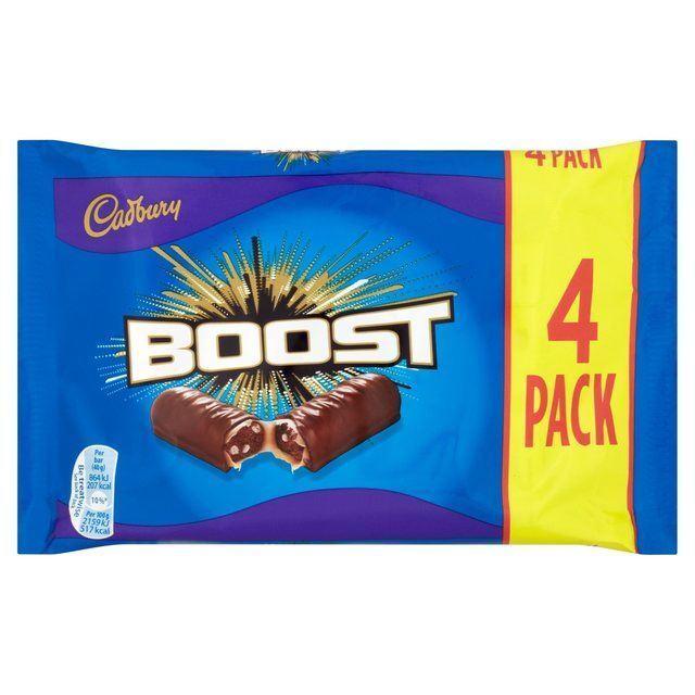Cadbury Boost British Chocolate Bar 4 Pack 160g