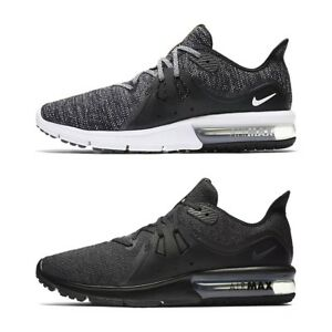 c24b8e6c6987 New Nike Air Max Sequent 3 Black White Trainers Running Shoes Men ...