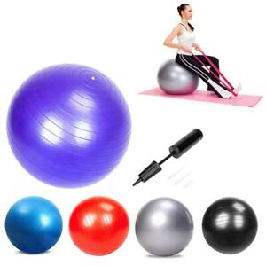 55-65-75-85cm-Yoga-Ball-w-Air-Pump-Exercise-Balance-Workout-Home-Gym-5-Colors