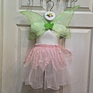 Pink-Fairy-Skirt-w-Wings-Tinkerbell-Child-039-s-Small-Dress-up-Set-Princess