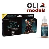 Fairy Flesh Tones Fantasy Paint Set 8x17ml - Vallejo 74101