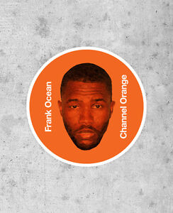 Details about Frank Ocean Sticker - Channel Orange - kanye west Jay-Z  OFWGKTA pyramids