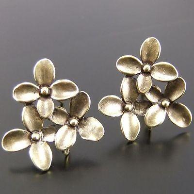 16pcs Antiqued Bronze Tone Charm Earring Stud Post Findigns 14*13 mm 03442