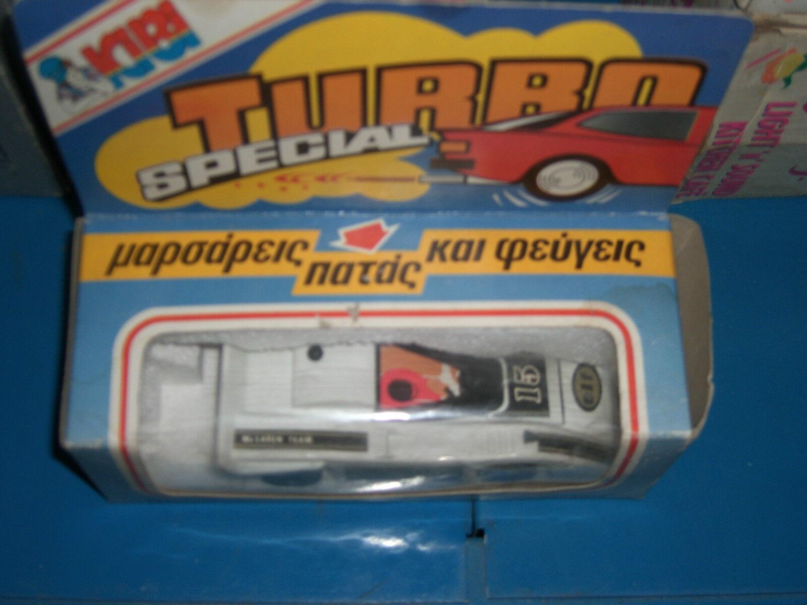 80'S VINTAGE GREEK WIND UP TOY CAR TURBO SPECIAL BASILIADES KIBI MIB