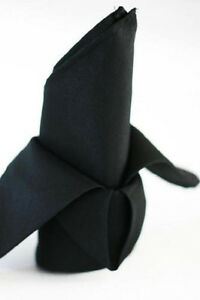 10-BLACK-RESTAURANT-DINNER-CLOTH-LINEN-NAPKINS-20X20-MADE-IN-THE-USA