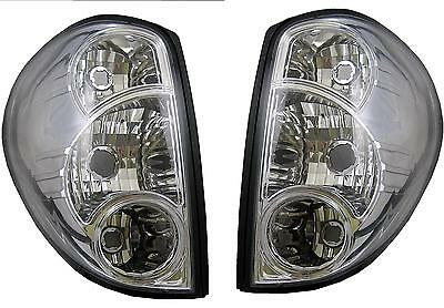 Chrome Rear Lights Mitsubishi L200 pickup truck 07 on tail lamp clear lens