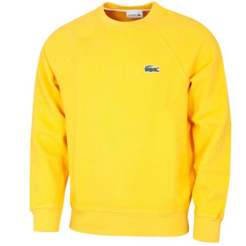 Lacoste Mens Organic Cotton Piqué Crocodile Ribbed Crew Neck Sweater