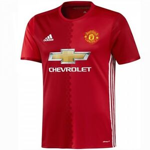 best service 40f81 795af Details about Adidas Manchester United Junior Kids Home Kit Football shirt  top 2016 / 2017