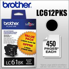 Brother Lc61bk 2 Pack Black Ink Cartridges