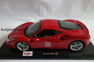 1-18-Maisto-Escala-Edicion-Especial-ferrari-488-GTB-Rojo-Diecast-Modelo-Coche