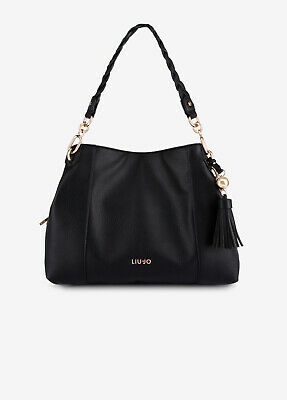 Borsa Donna Liu Jo Satchel Shopping Eco Pelle Nappine Nera Cuoio Zip Nuova | eBay