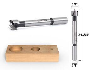 """1/2"""" Diameter Steel Forstner Drill Bit - 3/8"""" Shank - Yonico 43007s"""