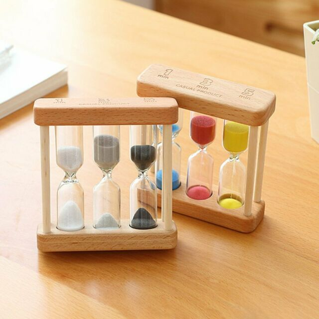 New Colored Sand Glass Sandglass Hourglass Timer 30//60min Home decor Unique Gift