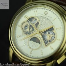 Automatic gold plated watch Constantin Weisz Day / Night, month day, week day