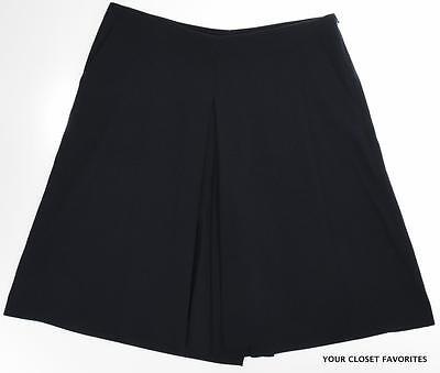 $115 NEW Lauren Ralph Lauren Womens Solid Blue Culottes Dress Shorts Sizes 12//16