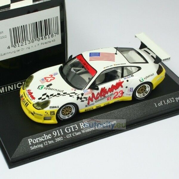 MINICHAMPS PORSCHE 911 GT3 RS TEAM JOB RACING GT CLASS WINNERS 12H SEB 400026923