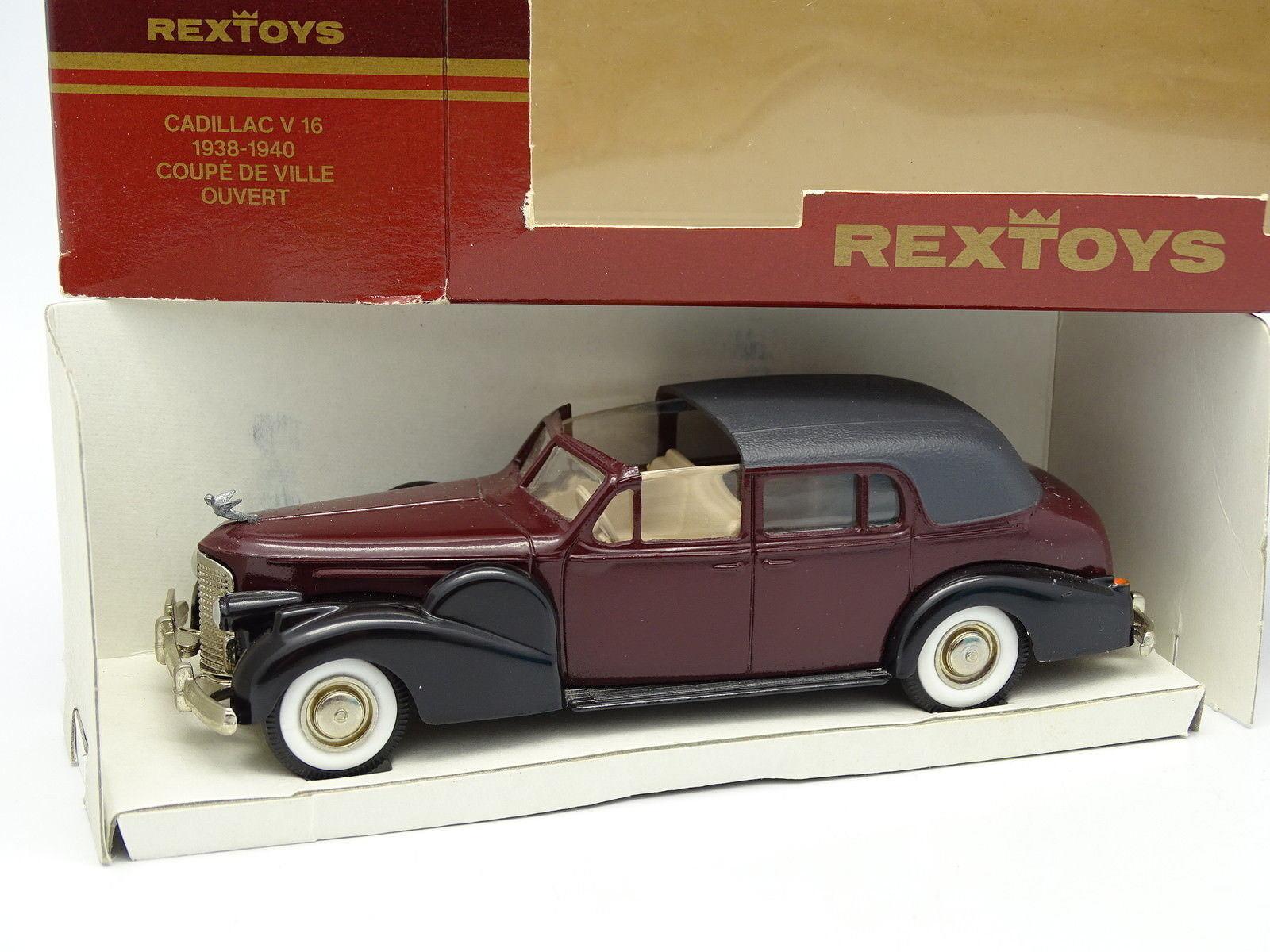 RexToys 1 43 - Cadillac V16 Coupe De Ville 1940 Ouvert Rouge