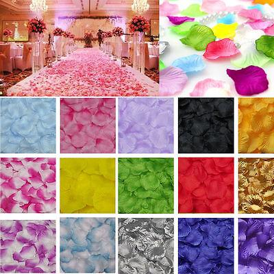 300/1000Pcs Various Colors Silk Flower Rose Petals For Wedding Party Decoration