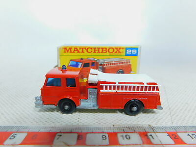 Novel Designs By332-0 5 # Matchbox No 29 Fire Pumper Truck / Truck Fire Brigade / Fw Delightful Colors And Exquisite Workmanship Mint Famous For Selected Materials