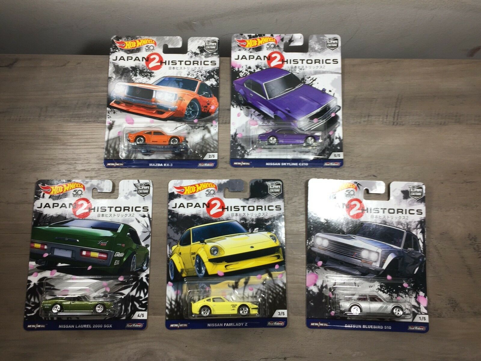 Hot Wtalons  Japan Historics 2 Set 5 voitures  mieux acheter