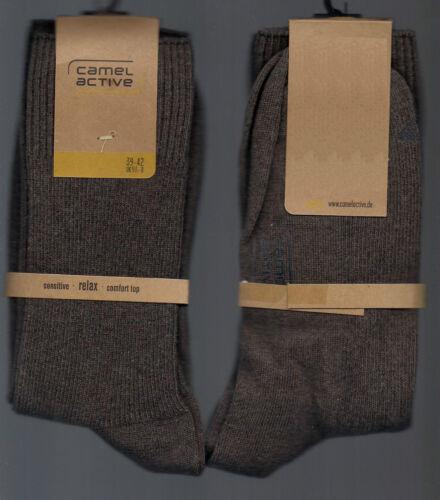 extra viel Baumwolle 39-42 *camel active* braun 1 Paar edel-sportliche Socken