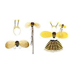 0d941896eab 4Pc Bumble Bee Honey Girls Kids Fairy Halloween Dress Up Party ...