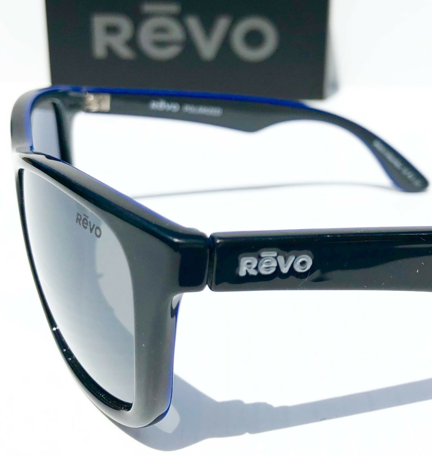 23541bff2e REVO Otis Black Blue Frame W Polarized Gray Lens Sunglass 1001 01 GY for  sale online