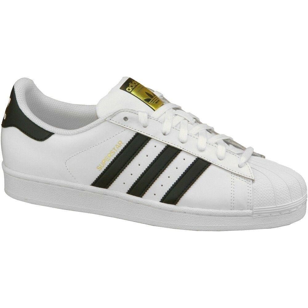 Adidas Superstar Original C77124 Black White Trainers Mens Size 8