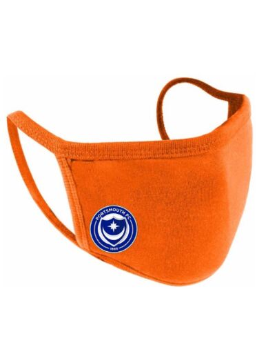 Portsmouth FC face covering Portsmouth Football Club Face Mask Adult 2ply Pompey
